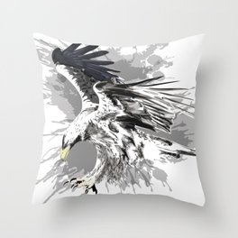 Stylized eagle art Throw Pillow