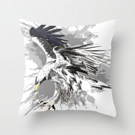 Stylized eagle art Throw Pillow