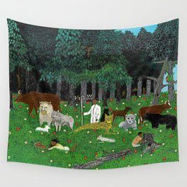 African American Masterpiece 'Holy Mountain III' by Horace Pippin Wall Tapestry