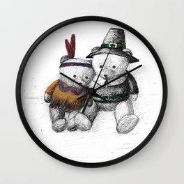 Bear: Happy Thanksgiving Wall Clock