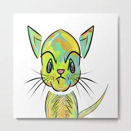 Alley Cat Kitten Metal Print