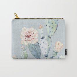 Prettiest Rose Cactus Blue Carry-All Pouch