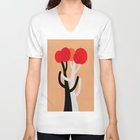 discount V-neck T-shirts featuring Let's dance! by Roxana Jordan