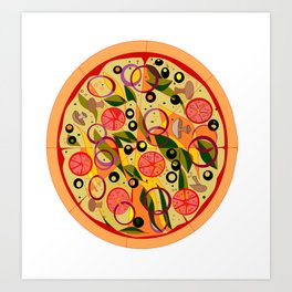 A Veggie Pizza, my Favorite Art Print