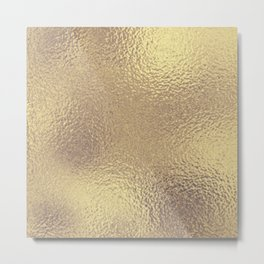 Simply Metallic in Antique Gold Metal Print