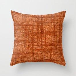 Textured Tweed - Rust Orange Throw Pillow