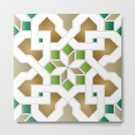 Oriental Pattern - Geometric Design Pt. 8 Metal Print