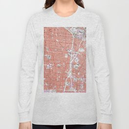 Vintage Map of South Gate California (1964) Long Sleeve T-shirt