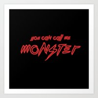 Neon Monster Art Print