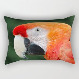 Scarlet Macaw Rectangular Pillow