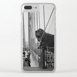 Old Time Godzilla vs. King Kong Clear iPhone Case