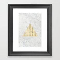 Trian Gold Framed Art Print