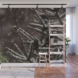 Snow Upon the Branches (Color) Wall Mural