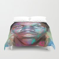 supreme Duvet Covers featuring true supreme by Matthew Asbury