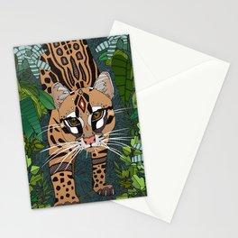 ocelot jungle nightshade Stationery Cards