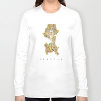 seattle Long Sleeve T-shirts featuring Seattle by Nicksman