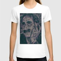 marx T-shirts featuring Groucho Marx - Duck Soup Screenplay Print by Robotic Ewe