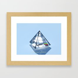 Sacred Geometry - Tetrahedron Framed Art Print