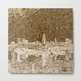 cleveland city skyline Metal Print