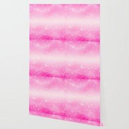 Magic deep pink heart patterned Wallpaper