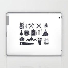Bushcraft Icons and Hiking Symbols Laptop & iPad Skin