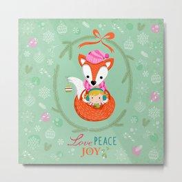 Love, Peace & Joy for Christmas Metal Print