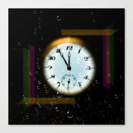 Time passes like soap bubbles Canvas Print