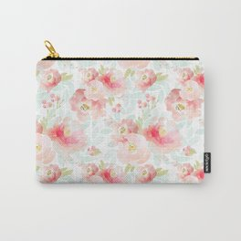 Indy Bloom Design Pink Plush Florals Carry-All Pouch