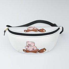 Funny Pig Wears Grizzly Bear Costume Fanny Pack