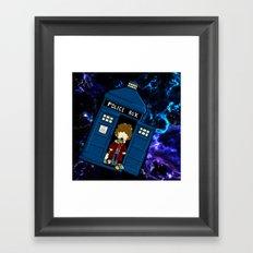 Tardis in space Doctor Who 4 Framed Art Print