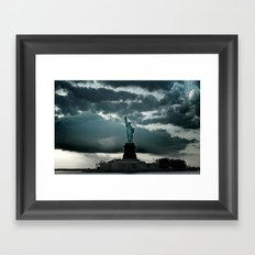 DARK SKIES Framed Art Print