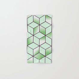 Electric Cubic Knited Effect Design Hand & Bath Towel