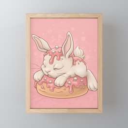 Donut Bunny Framed Mini Art Print