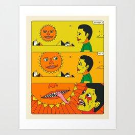 BAD SUN Art Print