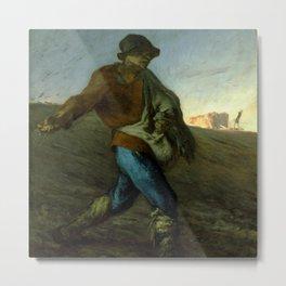 """Jean-François Millet """"The Sower"""" Metal Print"""