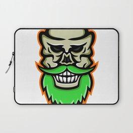 Bearded Skull or Cranium Mascot Laptop Sleeve