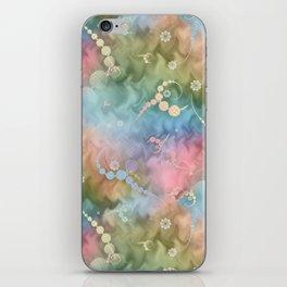 Satin Rainbow Pastel Floral iPhone Skin