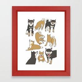 I love Shiba inu! Framed Art Print