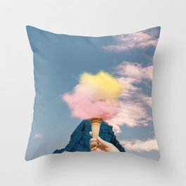 Low fat strawberry ice cream Throw Pillow