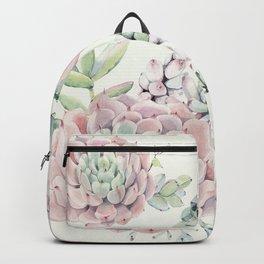 Pink Echeveria Light Green #society6 #buyart Backpack