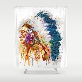 Native American Chief Shower Curtain