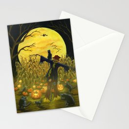 """Jack's Place"" Halloween original art print Stationery Cards"