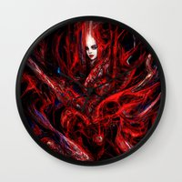 witchcraft Wall Clocks featuring Witchcraft by Gyossaith