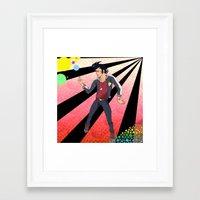 space dandy Framed Art Prints featuring Space Dandy - A Dandy in Space by Neeko