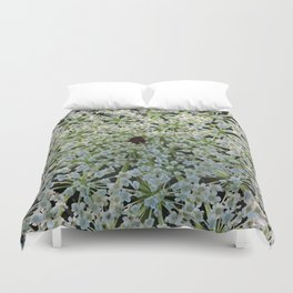 Queen Annes Lace Wildflower in Horicon Marsh Wisconsin Duvet Cover