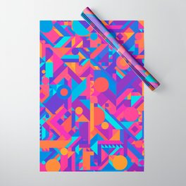 GEOMETRY SHAPES PATTERN PRINT (WARM & COOL COLOR SCHEME) Wrapping Paper