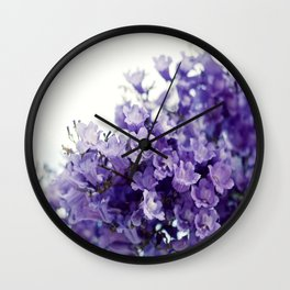 VIOLET TREE Wall Clock