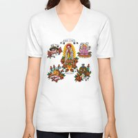 junk food V-neck T-shirts featuring Holy Junk by ERROR Design