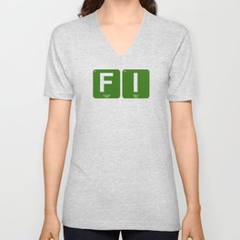 Financial Independence Periodic Table Unisex V-Neck