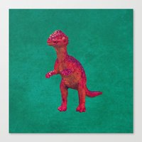 dino Canvas Prints featuring Dino by ObviousMoth